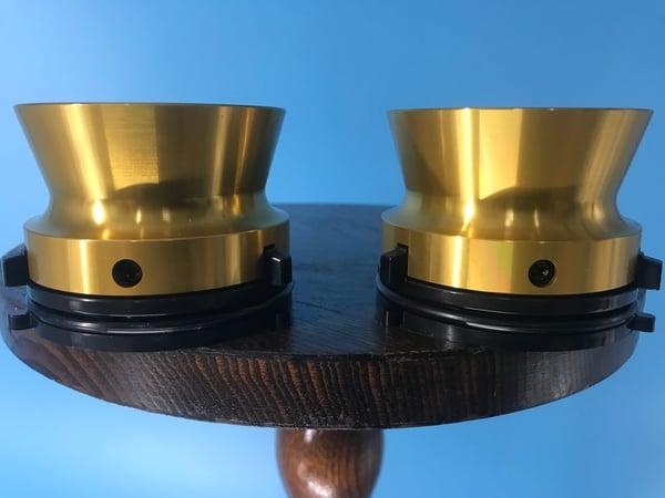 "Image of Burlington Recording Professional Gold 1/4"" NAB Hub Adapters with Aluminum Trumpet (PAIR)"