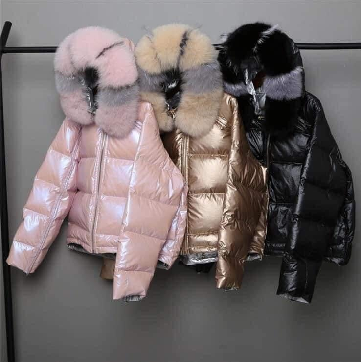 Image of Fur Hooded Down Coat
