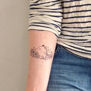 Image of Fox and Bear Cameo Temporary Tattoos