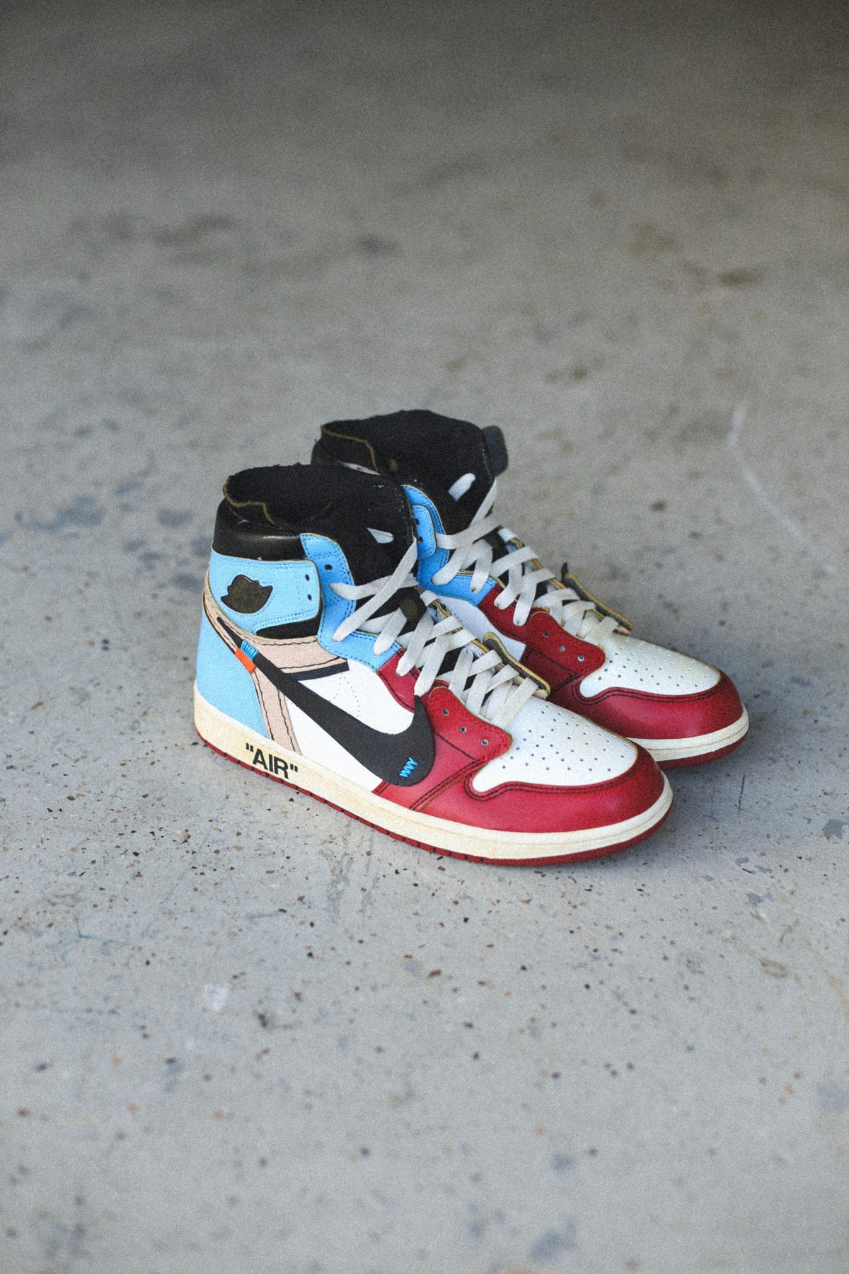 """Image of Aged """"Fearless"""" off-white inspired"""