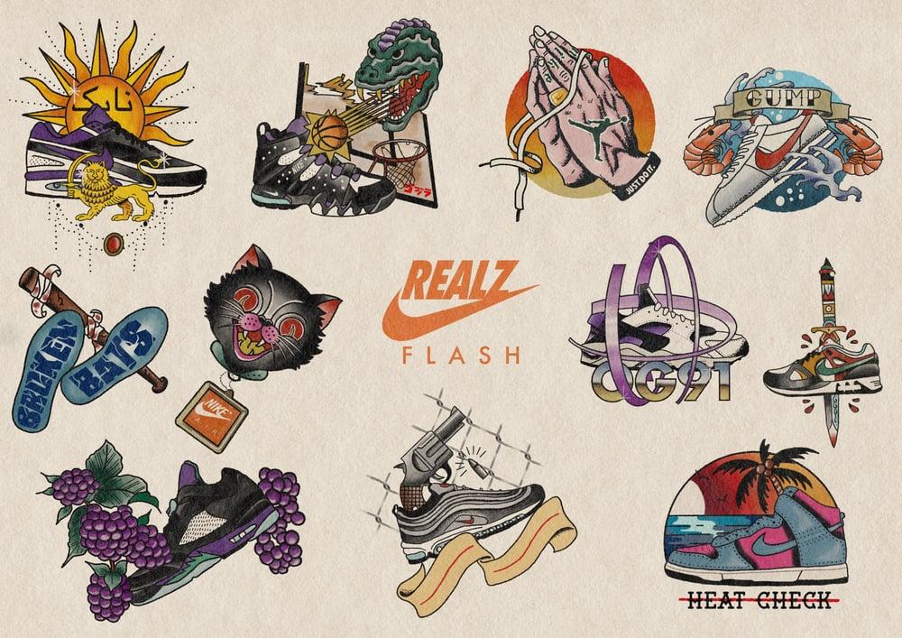 Image of Sneakerhead Tattoo Flash Print Vol. 1