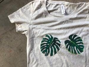 Image of Monstera t-shirt, cream, size Small