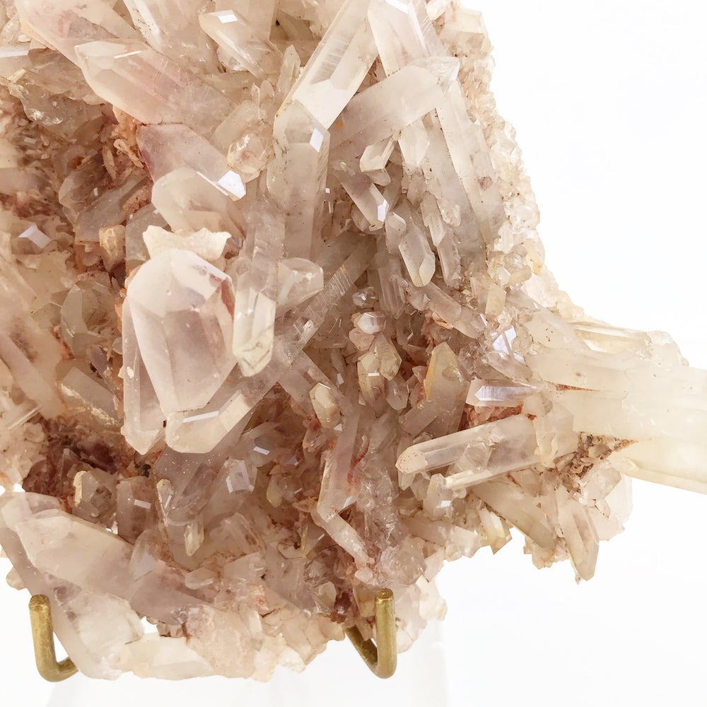 Image of Pink Quartz no.60 + Lucite and Brass Stand