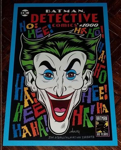 Image of THE JOKER DETECTIVE COMICS #1000 SKETCH COVER 11x17 PRINT!