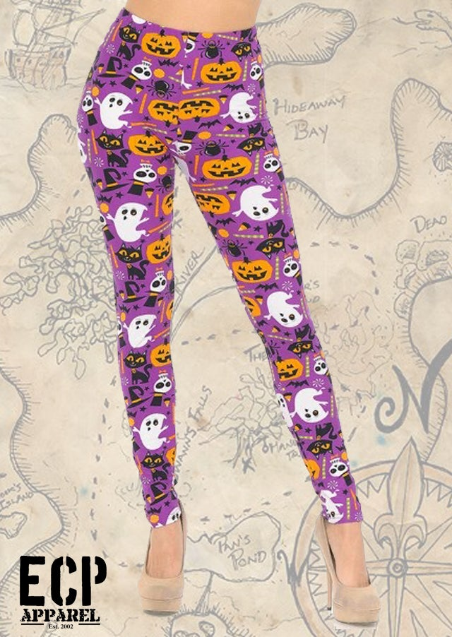 """Spooky Party"" Butter Soft Leggings"