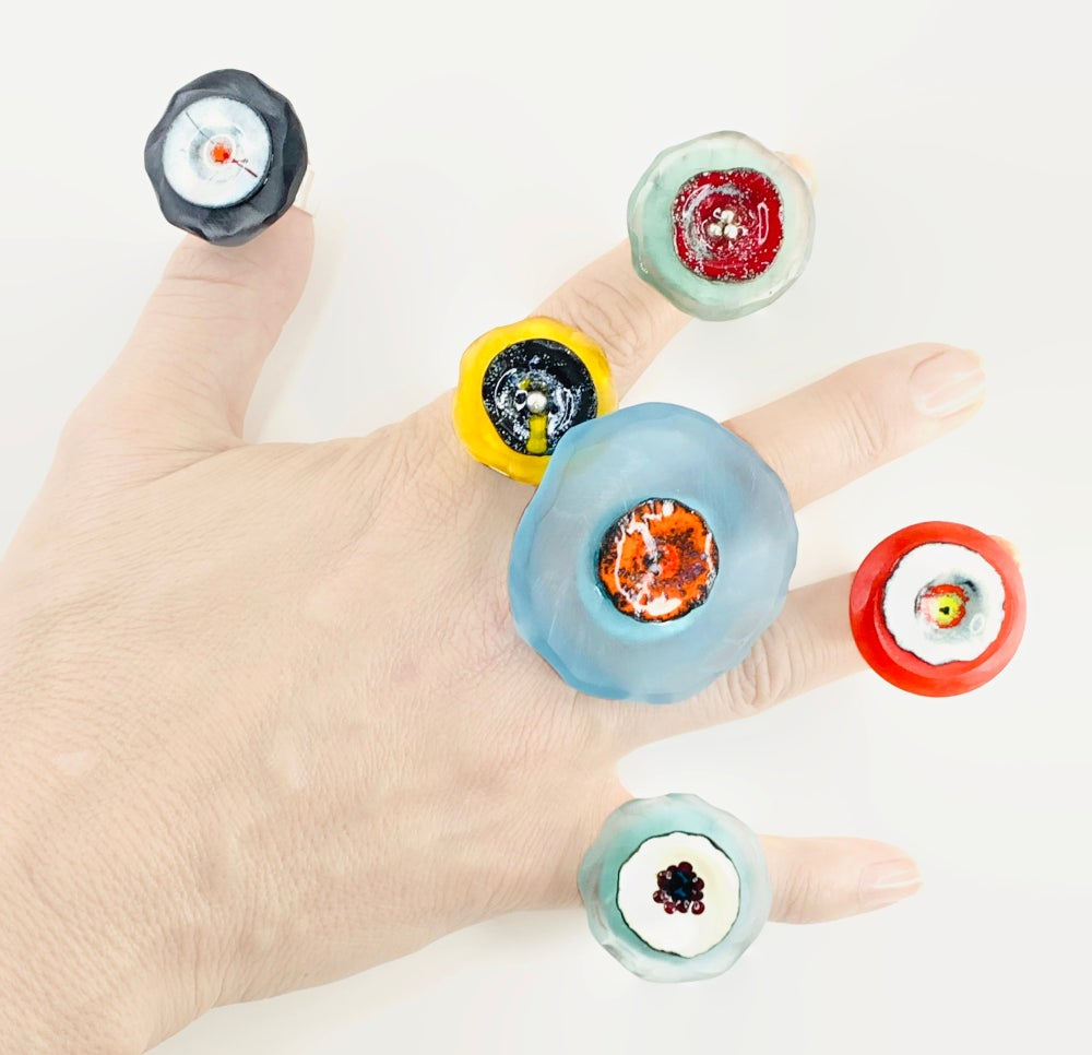 Small Resin and Enamel Rings