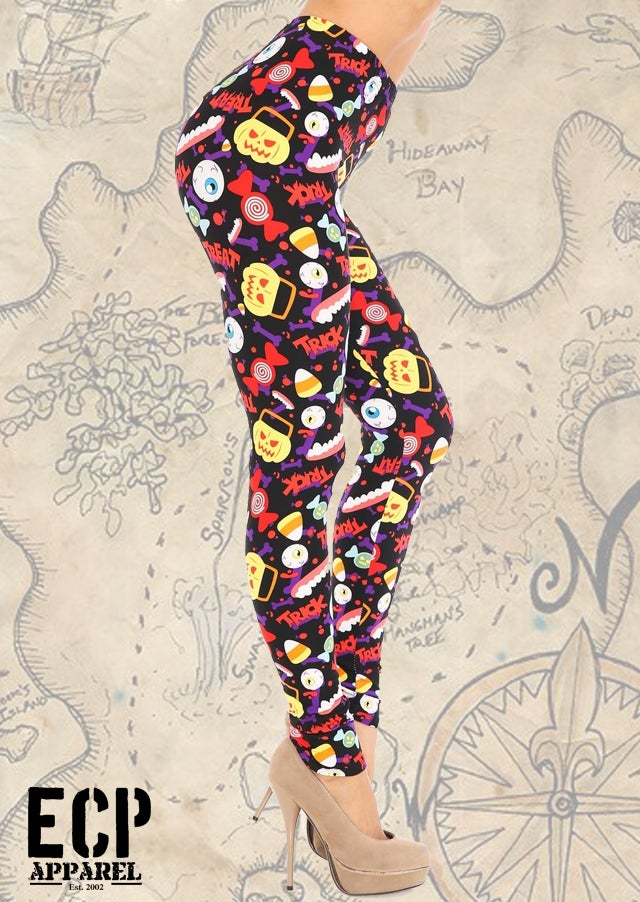 """Trick Or Treat"" Butter Soft Leggings"