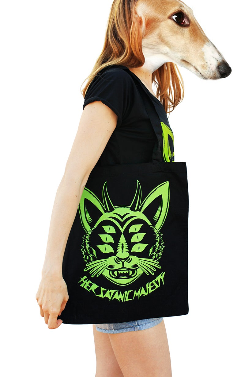 Image of HER SATANIC MAJESTY TOTE-BAG