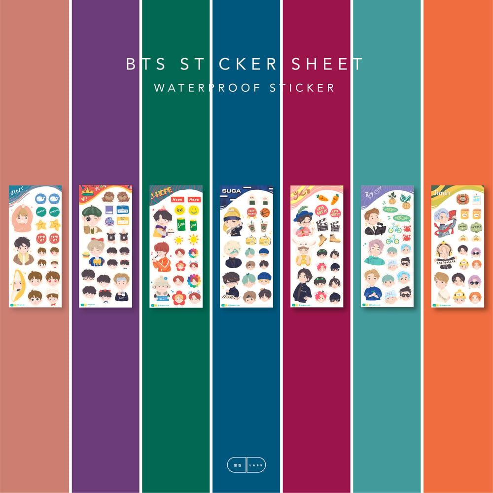 Image of BTS Sticker Sheet