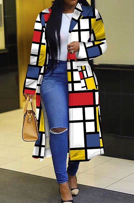 "Image of ""Color Blocks"" Trench Jacket"