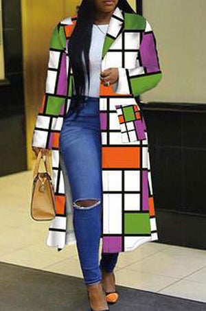 """Image of """"Color Blocks"""" Trench Jacket"""