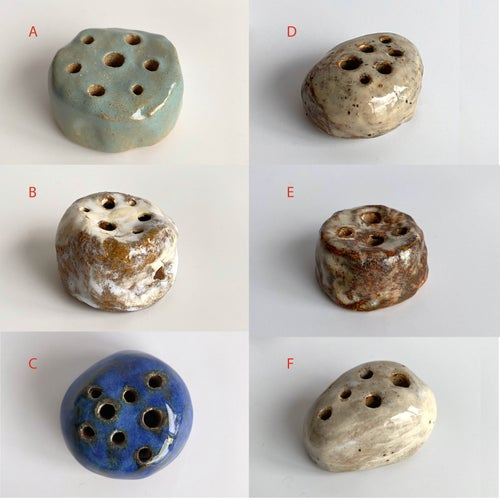 Image of Homemade Ceramic flower frog