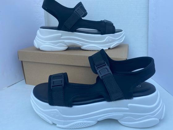 Image of Platform Sandal Blk/Wht