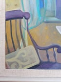 20th Century Painting 'Interior with Rocking Chair'