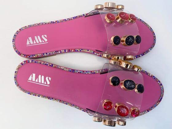 Image of Pink & multicolor Gem Sandal