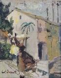 20th Century Swedish School  'Figure in a Mediterranean Town'