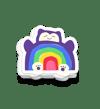 Snorlax Rainbow Sticker