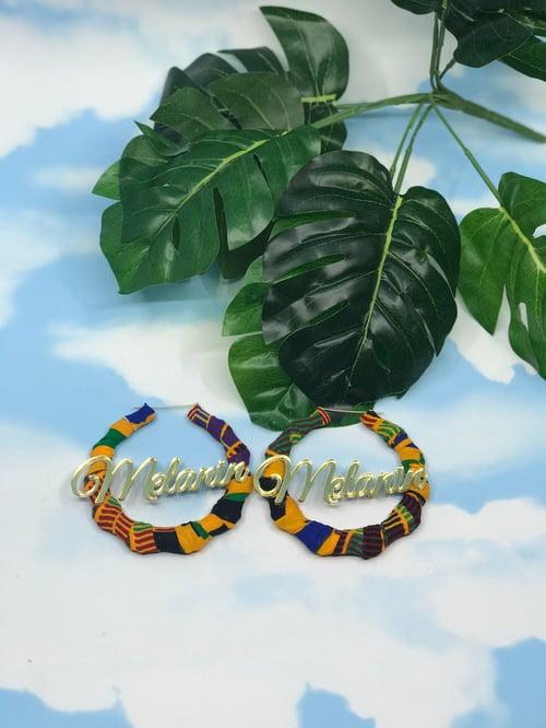 Image of Melanin fabric earrings