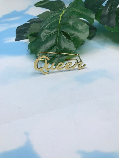 Image of Queen knuckle ring gold