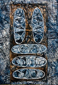 Image of Fertile world: indigo & Burnt Sienna