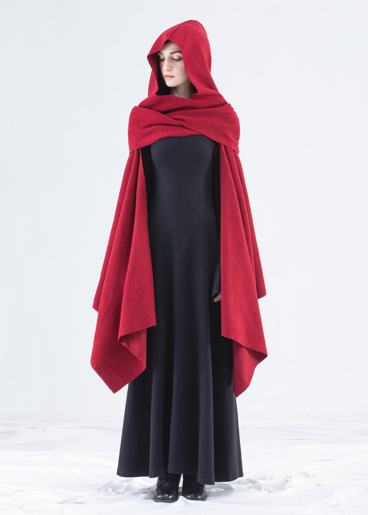 Image of Shawl Hooded Wrap Cape in Rudy