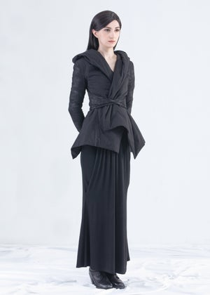 Image of Hooded Cotton Padded Coat