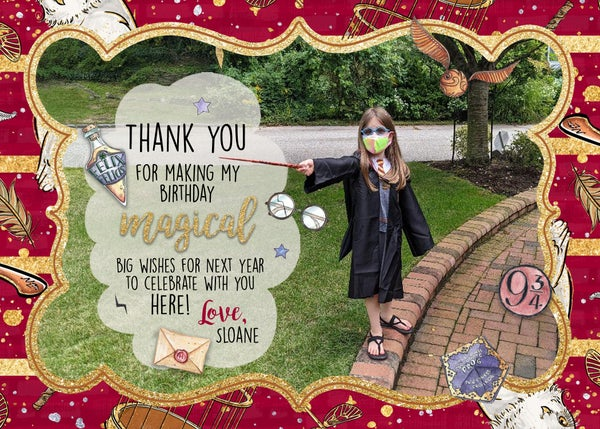 Image of Harry Potter Birthday Thank You