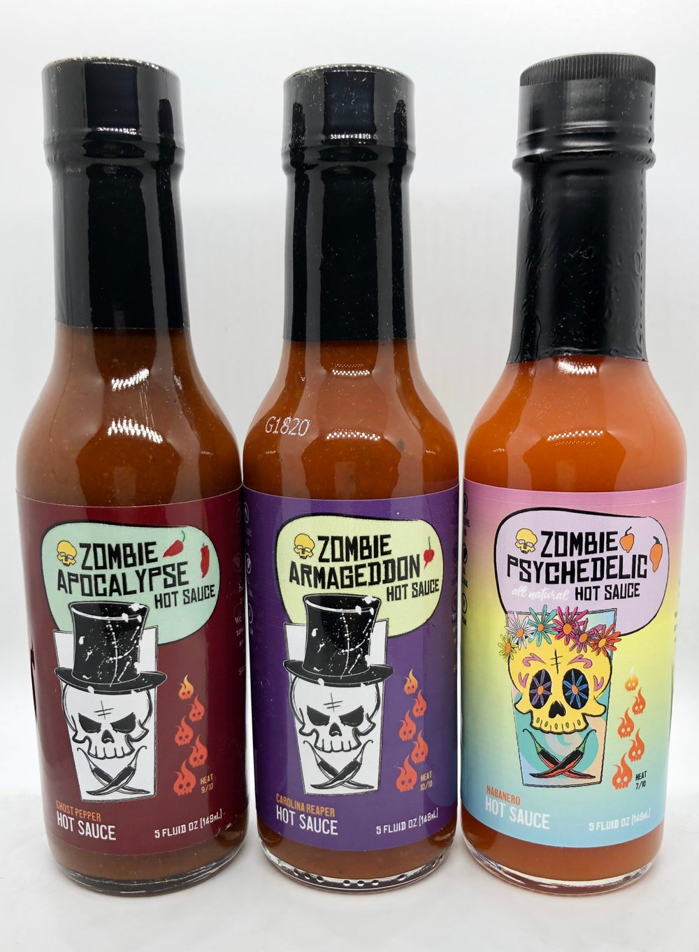 Image of *NEW ITEM* Zombie Hot Sauce 3 Pack