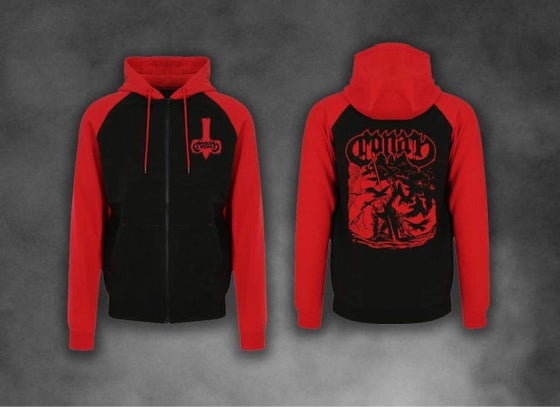 Image of Damned by Crows Contrast Hoodie