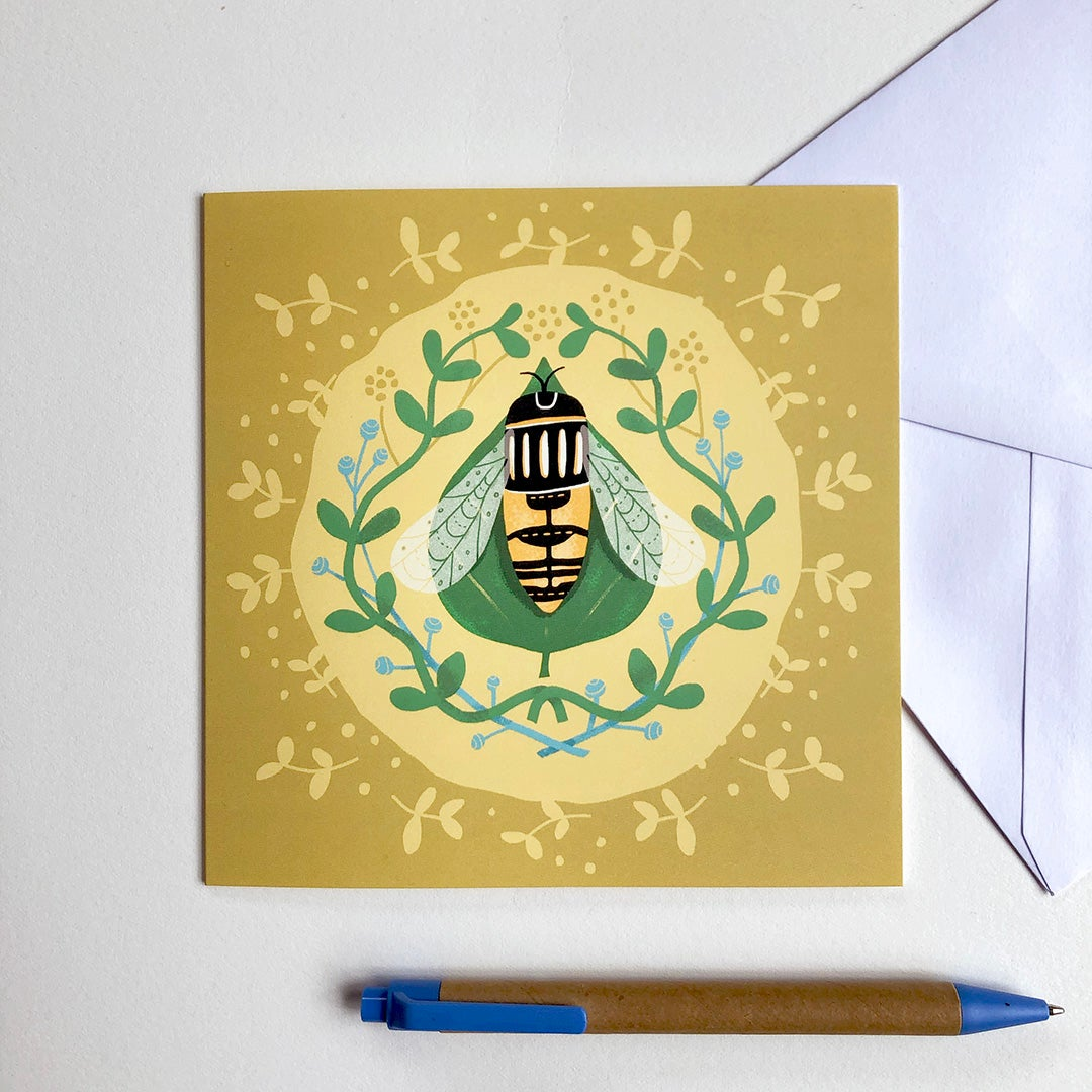 Greeting Card - Hoverfly