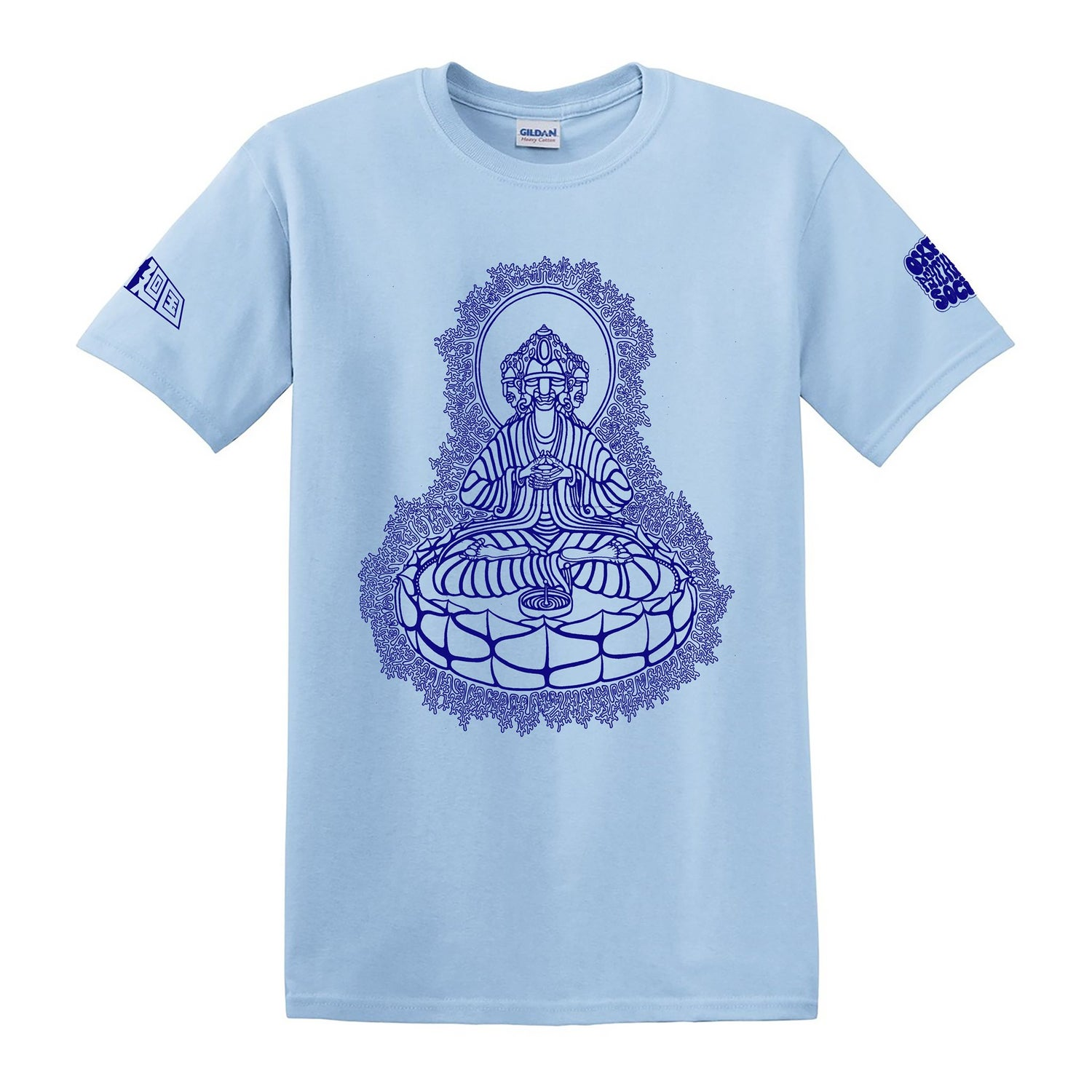 Image of Trimurti T-shirt in light blue