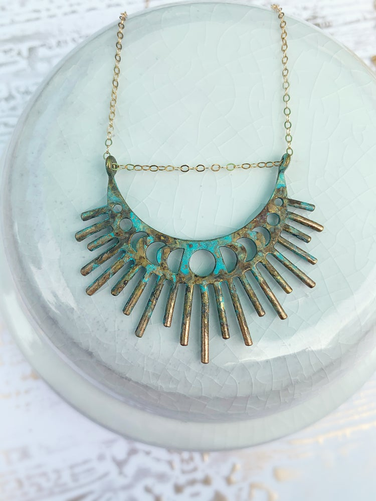 Image of Patina Burst Necklace