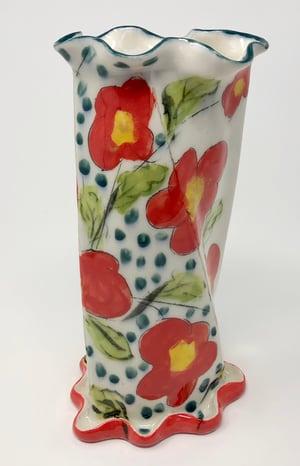 Image of Red Flower Vase