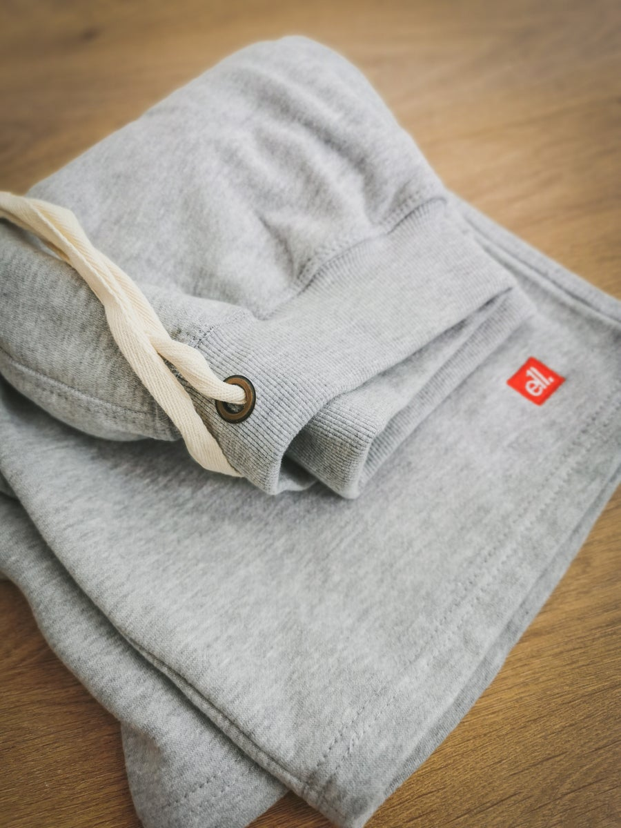 Image of E11evens - Grey campus style shorts