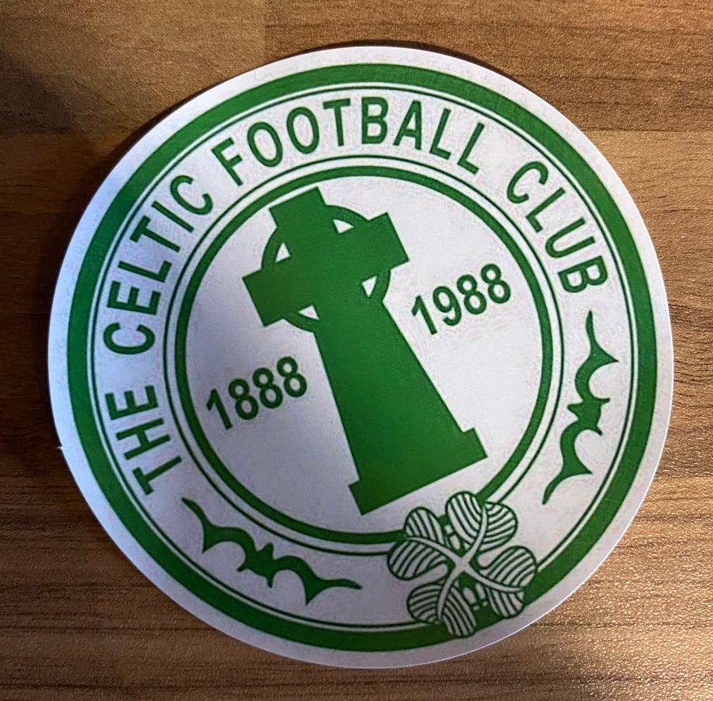 Celtic Retro Crest Stickers