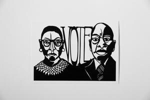 Image of Ruth Bader Ginsburg + John Lewis Vote Postcard