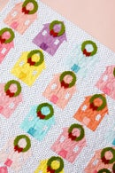 Image 1 of the CHRISTMAS VILLAGE ADVENT quilt pattern