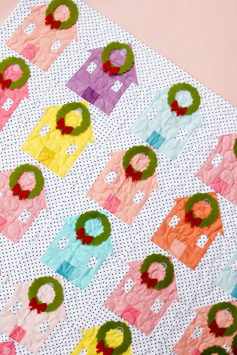 Image of the CHRISTMAS VILLAGE ADVENT quilt pattern