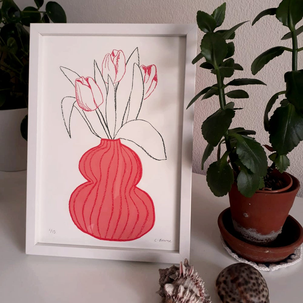 Image of Tulips & Vase Screenprint