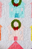 Image 5 of the CHRISTMAS VILLAGE ADVENT quilt pattern
