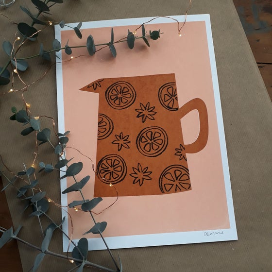 Image of Star Anise Jug Screenprint