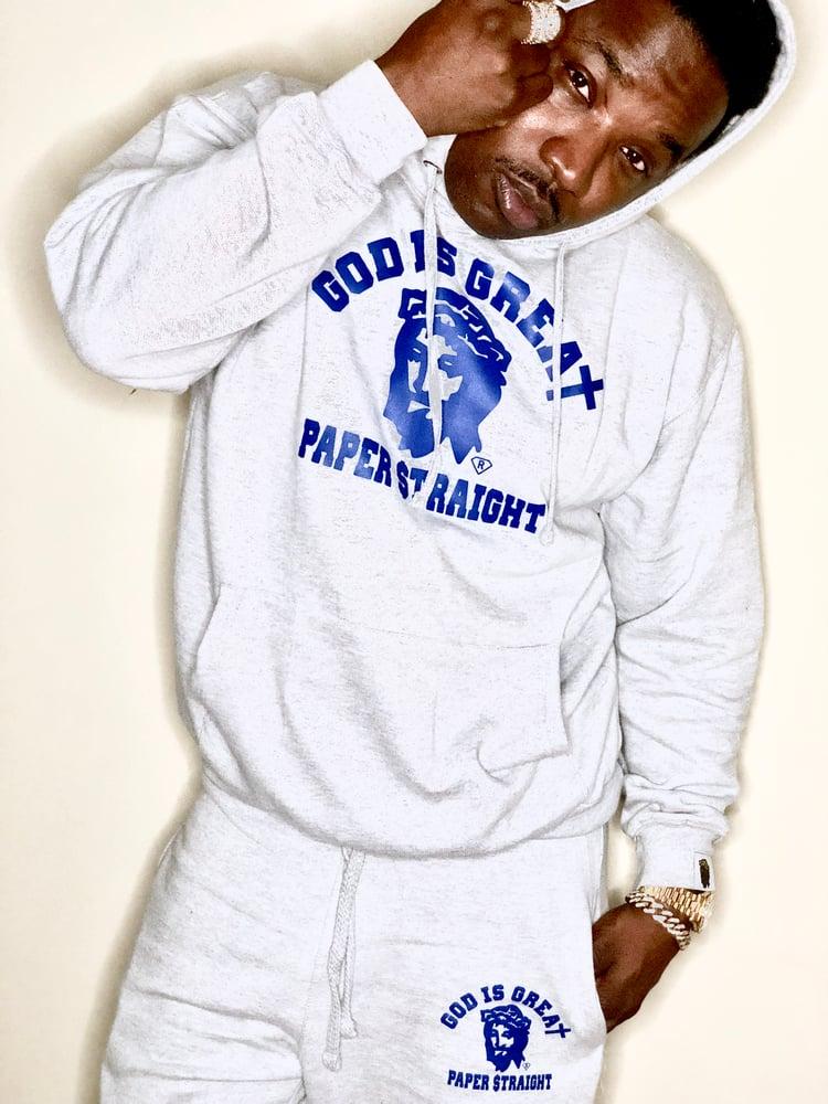 Image of (GIGPS GREY & BLUE) Classic Feel Full Sweatsuit  [Hoodie or Crewneck]