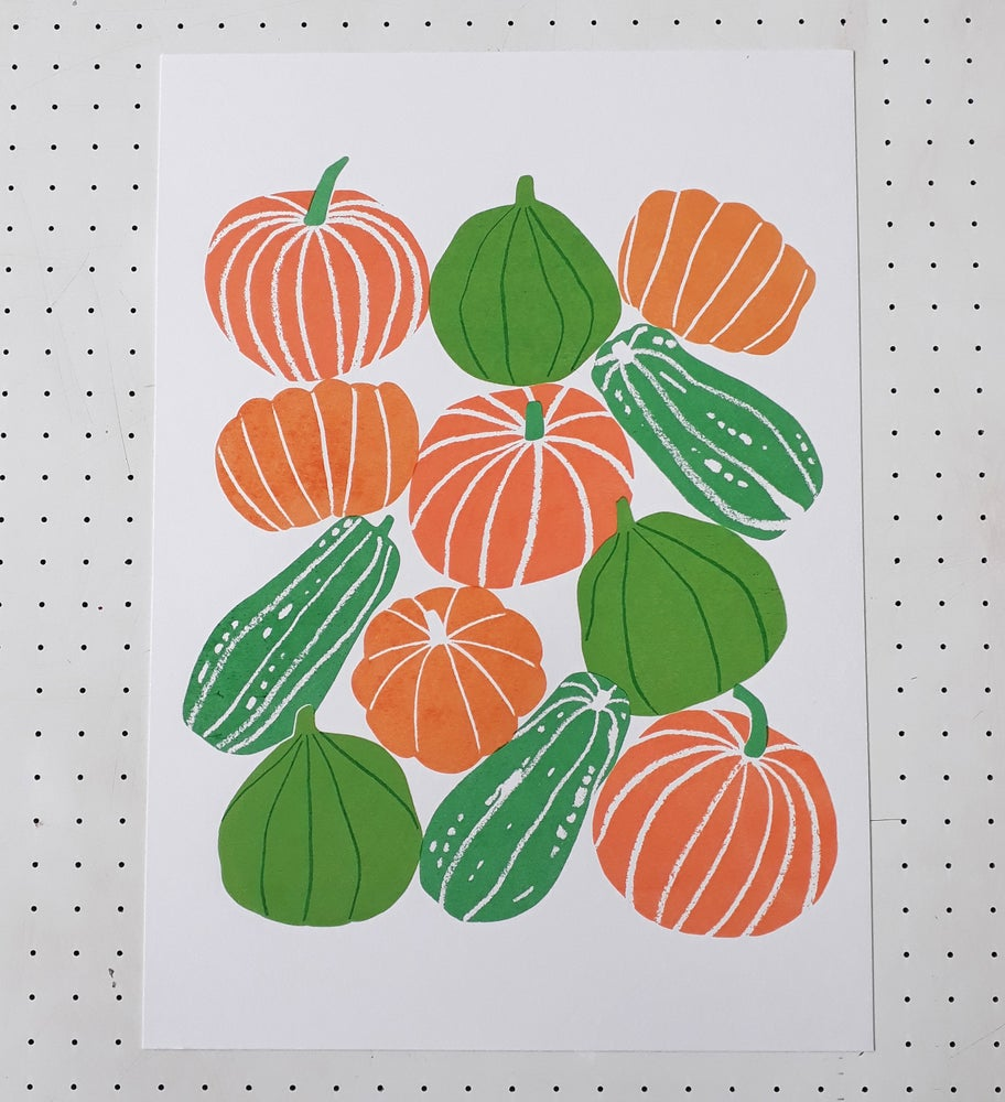 Image of Pumpkins Screenprint