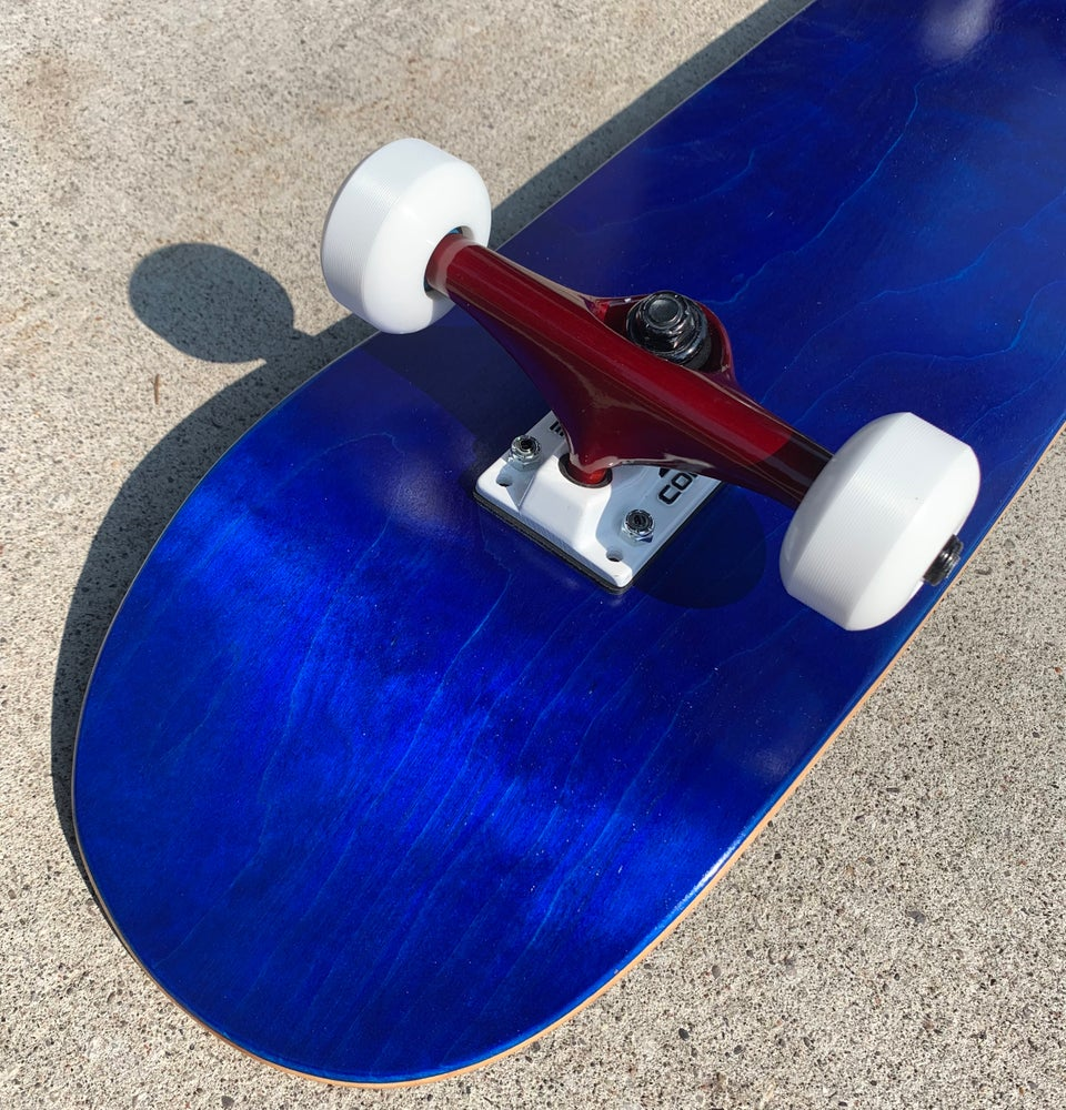 Image of Blue Stained Complete Skateboard w/ Core trucks