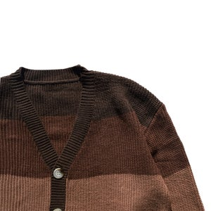 Image of Brown Gradient Cardigan