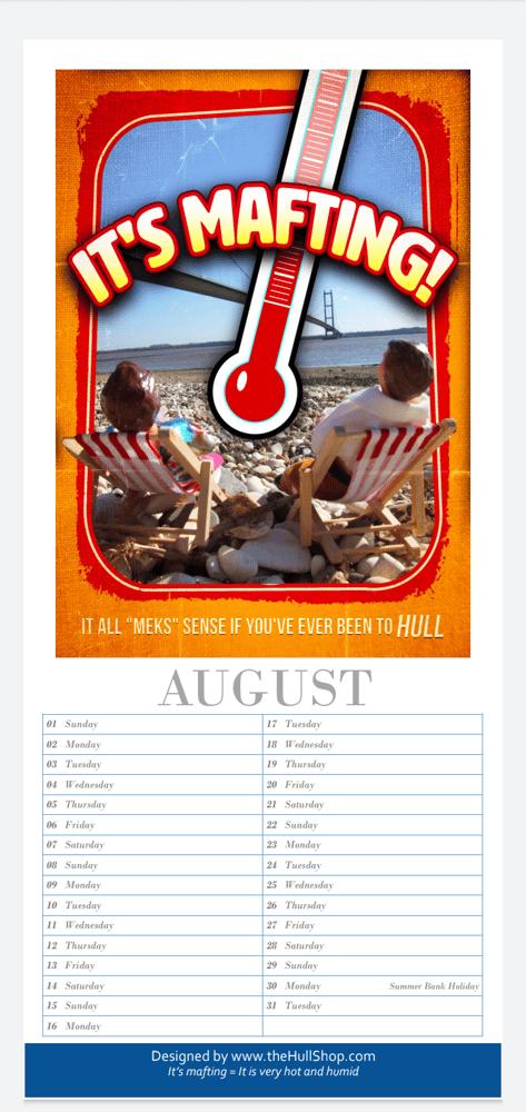 Image of HULL 2021 CALENDAR (Warning Hull humour alert!!)