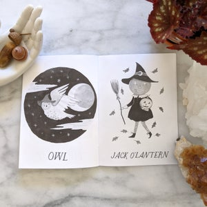 Image of Witch Art Zine Featuring Inktober Drawings