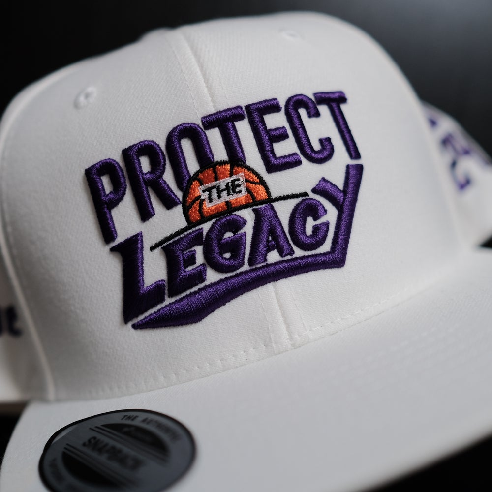 1 OF 1. Protect the Legacy in Purple on White