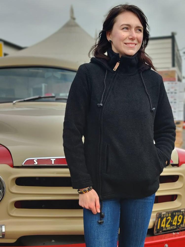 Image of Side-Zip Wool Sweater Handknit