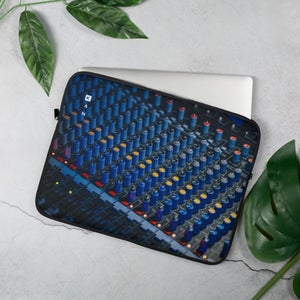 Image of Blue Desk Laptop Sleeve